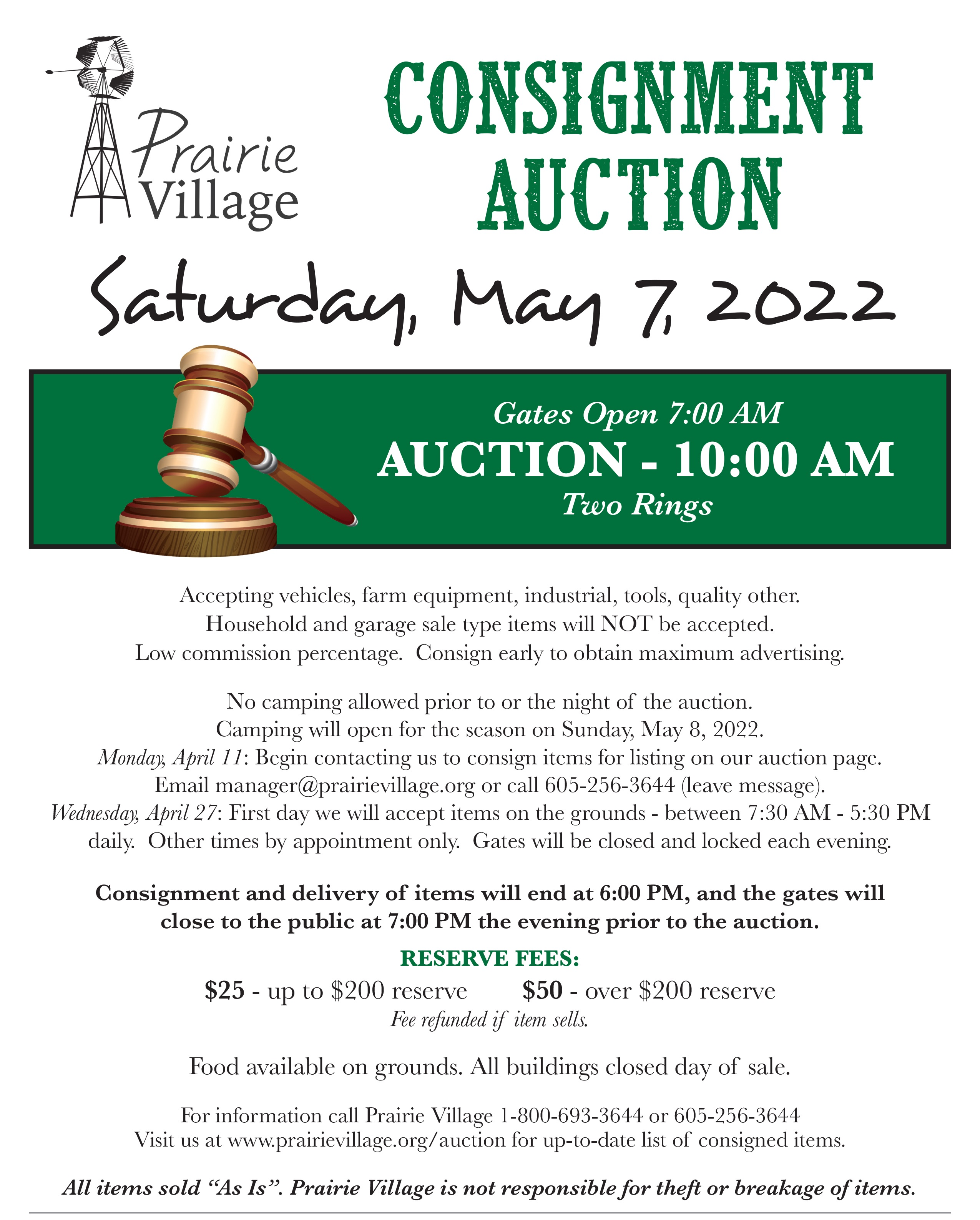 Consignment Auction Poster