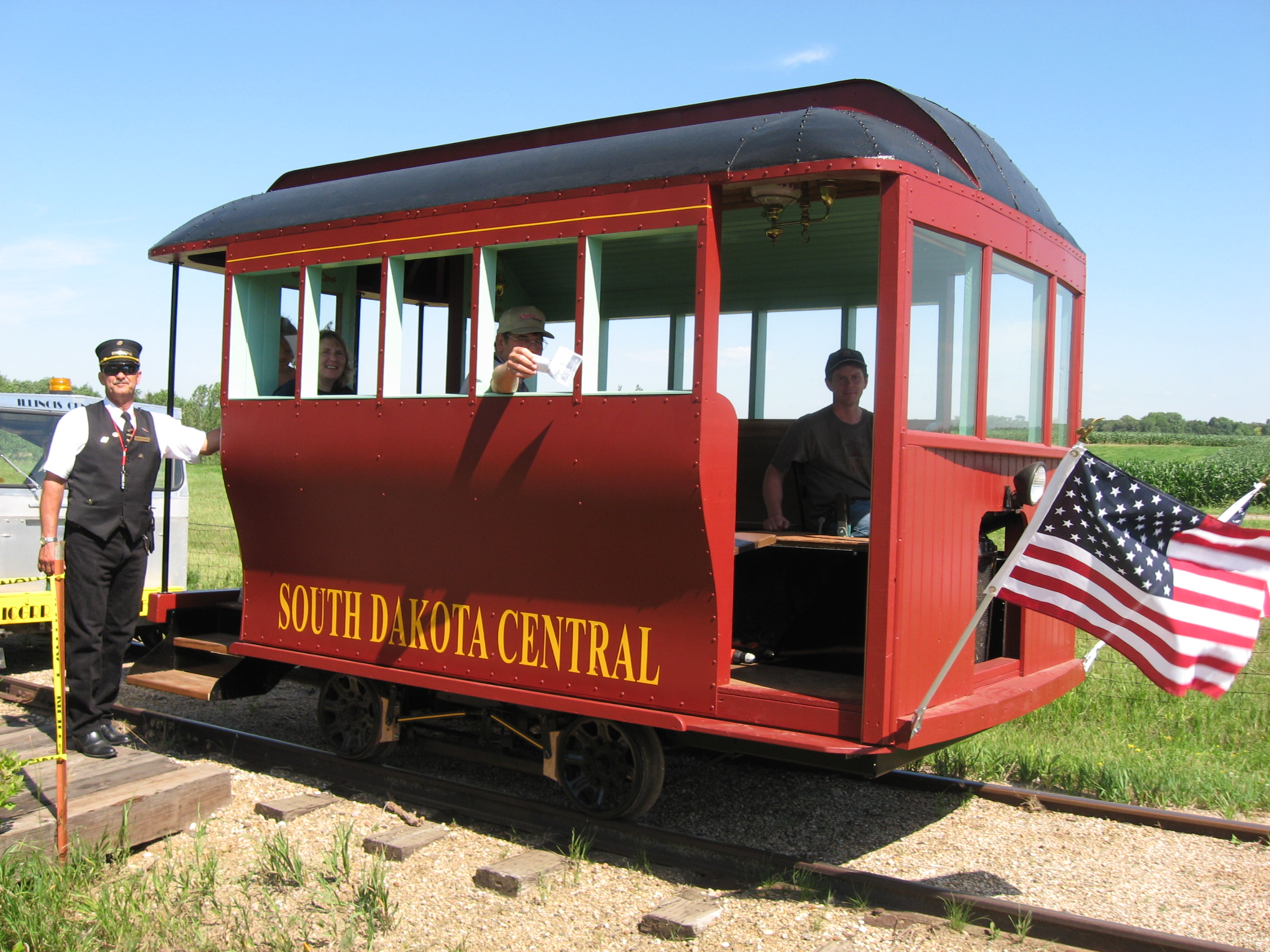 The Prairie Village Doodlebug rail car