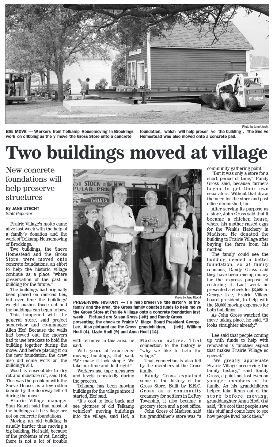 Madison Daily Leader article