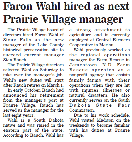 Faron Wahl hired as next Prairie Village manager