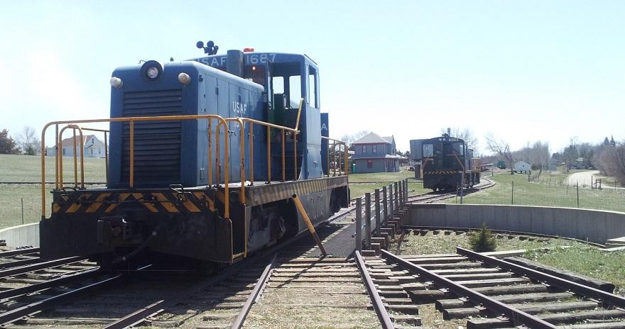locomotive 1687 on the turn table
