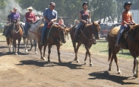 Wagon train out riders