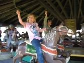 kids and carousel