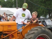 young tractor driver